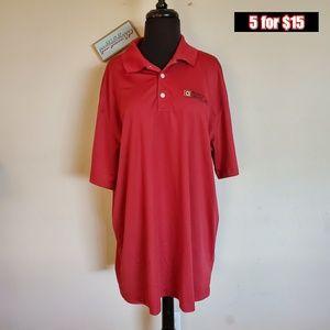 mens nike xxl red polo golf shirt ♣️